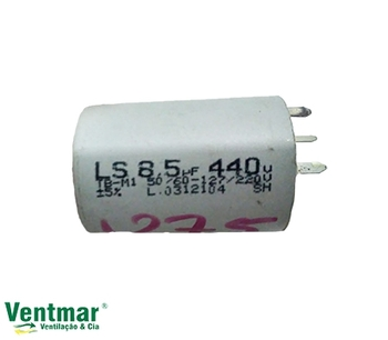 Capacitor para Ventilador Loren Sid Bivolts 08,5uF com Terminais - Capacitor de Partida com terminal CAP008,5