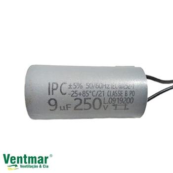 Capacitor Para Ventilador De Teto 2Fios 09uF 250vac - Capacitor para Ventilador Aliseu Smart - Prima