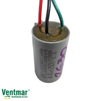 Capacitor para Ventilador de Teto Loren Sid 127v 3Vel 3Fios 10,0uF 4+6mF 250vac - Ventiladores Venti-Delta, Arge, RioPreLustres, etc...