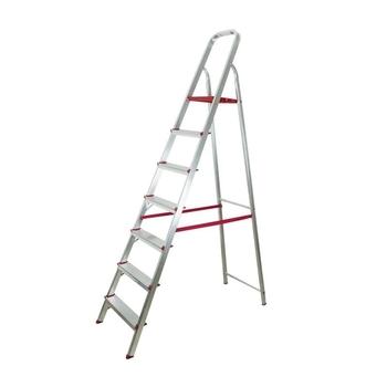 Escada de Aluminio 07 Degraus Doméstica - Escada Doméstica de Aluminio - Marca Botafogo