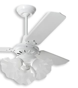 Pá Hélice para Ventilador de Teto LOREN-SID M3 - Pá Plástica Reta Branca - P09I/BR - Vendida p/Unida