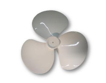 Hélice Para Ventilador Qualitas 40cm 3Pás Branca - Encaixe 8,0mm Ponta Meia Lua Fixada C/Pressão E T
