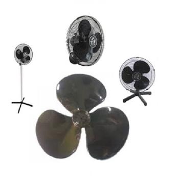 Hélice para Ventilador Qualitas 40cm 3Pás Preta - Encaixe 8,0mm Ponta Meia Lua Fixada c/Pressão e Tr