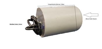 Capacitor de Partida para Portão Eletrônico - Capacitor 25,0uF 2Fios 440VAC - Capacitor Motor Elétrico/Motor de Portão de Elevação *Observe Medidas*