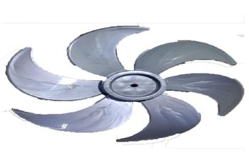 Hélice para Ventilador Loren Sid Turbo 50cm 6Pás Cinza - Hélice para Ventilador Vitalex 50cm - Diâme