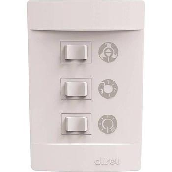 Ventilador de Teto Aliseu Terral 127v Branco 3Pas Chave 3 Vel Luminária p/2 Lâmpadas - Motor 150w - VTTERRAL