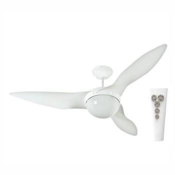 Ventilador de Teto Aliseu Terral 127V Branco Luminária p/2 Lâmpadas Controle Remoto 3Velocidades - Motor 150W Maior Ventilação+Silencioso