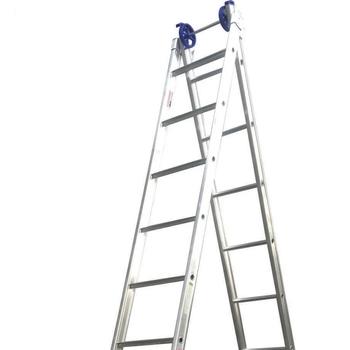 Escada de Alumínio 10 Degraus Extensiva - Escada Extensiva de 10 Degraus - Escada Profissional 4 em 1 - Real Escadas