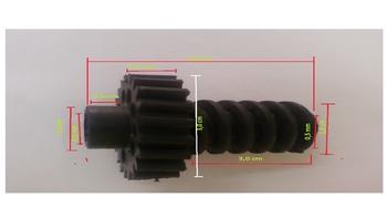 Engrenagem COM Rosca sem Fim do Ventilador Ventisol Oscilante 50/60cm - ENGRENAGEMCOMROSCA