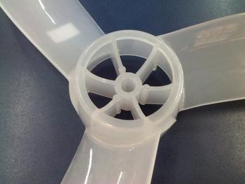 Hélice para Ventilador ARGE 60cm Stylo / Twister ATUAL2020 - 3Pás Ponta Redonda Encaixe em Eixo 10,0mm c/Trava Traseira