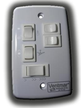 Chave Ventilador de Teto 3V 127v Liga 3 Lampadas - Espelho Padrão 4x2 SEM capacitor CV3V