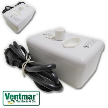 Chave Controle de Velocidade Para Liquidificador - Dimer 1.000WBiv c/Tomada e Rabicho c/Plug - Controle de Rotação para Liquidificador Shake Herbalife