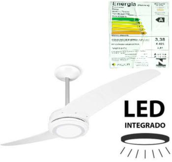 Ventilador de Teto Spirit 203 2Pás Branco 127v c/Luminária LED - Chave 3Velocidades *LIQUIDAÇÃO - ÚLTIMA UNIDADE*