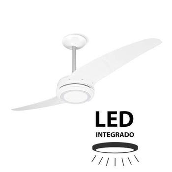 Ventilador de Teto Spirit 203 2Pás Branco 127v c/Luminária LED - Chave 3Velocidades