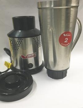 Copo para Liquidificador VITALEX 2 Litros Alta Rotação - Copo de Inox c/Tampa (COMPLETO) COPOLIQ