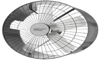 Exaustor de 60cm Loren Sid Bivolts Monofásico - Comercial Industrial - c/Chave de Reversão - CAP12,0uF - OCP-0018