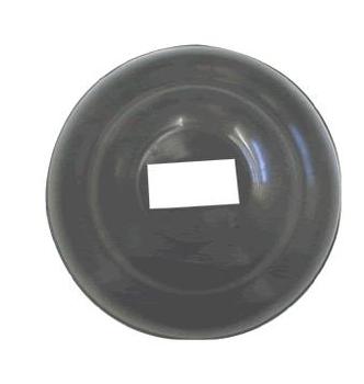 Canopla plástica para suporte do ventilador Ventisilva preto