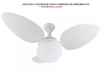 Ventilador de Teto Colonial RioPreLustres 1025 127v - Branco Linha Super Luxo - Chave Controle de Velocidade *LIQUIDAÇÃO - ÚLTIMAS UNIDADES