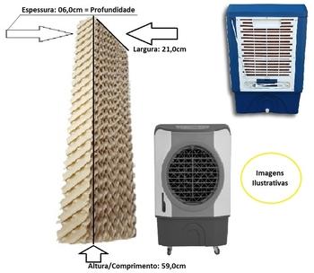 Colméia Para Climatizador - A/P06 x L21 x C59cm - Painel Evaporativo para Climatizador MWM M4500 Par