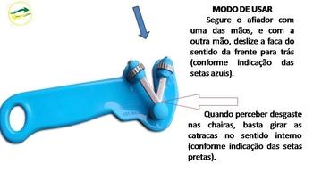 Afiador de Facas Manual Suprakorte Azul - Afiador Supra Korte - VENTMAR