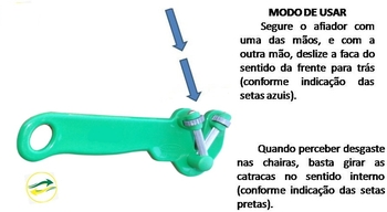 Afiador De Facas Manual Suprakorte Verde - Afiador Supra Korte - VENTMAR