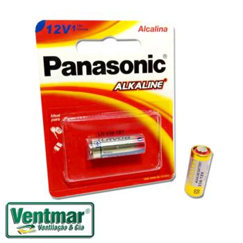 Pilha Bateria 12V para Controle Remoto de Portão Eletrônico - Bateria Panasonic Alcalina 12Volts
