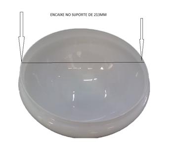 Globo Cúpula Vidro Ventilador de Teto Aliseu Terral Atual - Gola 213mm Diâmetro de Encaixe - VIDROAL