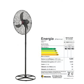 Ventilador de Coluna 70cm Solaster Veneza Plus Bivolts 188/226W Preto - Hélice 3Pás Grade Metal Preta+Fechada - Ventilador Solaster Veneza Plus