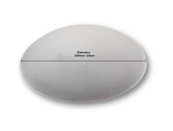 Globo Cúpula Vidro Luminária Ventilador de Teto Loren Sid - Vidro 200mm Modelo Residence - Vidro Venti-Delta Clean