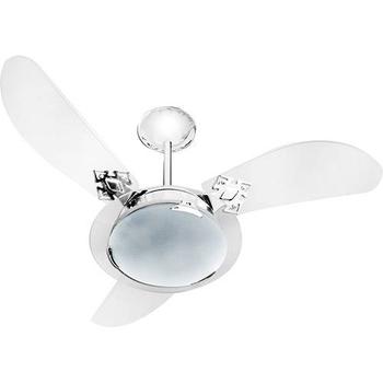 Globo Cúpula Vidro Luminária Ventilador de Teto Loren Sid - Vidro 240mm Modelo Residence - Vidro Venti-Delta Clean