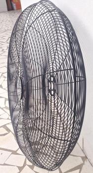Grade do Ventilador VENTISILVA Dianteira ou Traseira Preta 65cm Metal com EMBLEMA - Modelo Atual NBR