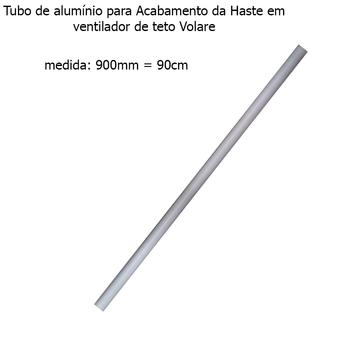 Acabamento Tubo de Alumínio do Ventilador de Teto VOLARE Branco 90cm VLR