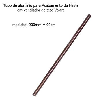 Tubo de Alumínio para Acabamento da Haste em Ventilador de Teto VOLARE Cobre 90cm - TUBOVLR