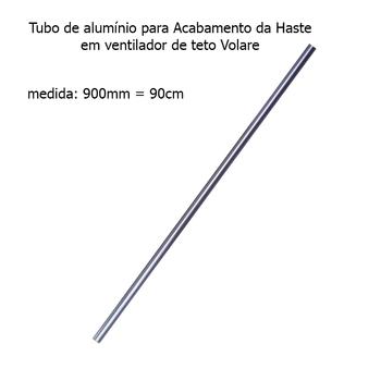 Acabamento Tubo de Alumínio do Ventilador de Teto VOLARE Aço Escovado 90cm VLR
