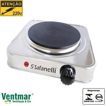 Fogão Elétrico Portátil Safanelli 1 Placa 220V Acabamento Inox - FP1011 ITC Safanelli - Fogão Elétrico de 1 Boca