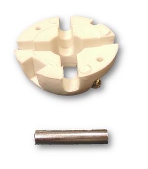 Rótula de Nylon Inferior do Suporte para Ventilador de Teto VOLARE - Kit Inferior - (c/Pino+2Parafus