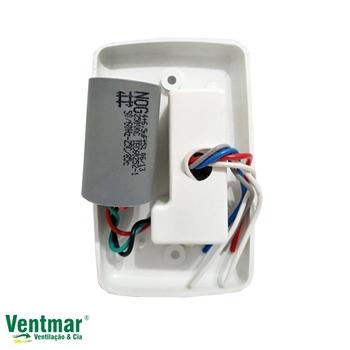Chave para Ventilador de Teto VOLARE 127v 3Velocidades c/Capacitor 10,5uF (4,0+6,5mF) Ventilador Ventax 110v - VENTMAR