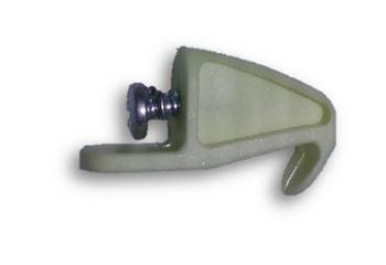 Garra Trava do Vidro Luminária Ventilador VOLARE Premium - Trava Plástica Suporte do Vidro Luminária Volare PLATINUM Branca - *Vendida p/Unidade