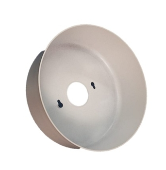 Canopla de Teto do Ventilador VOLARE Superior em Alumínio Branca - Base Reta - CANOPLAVLR