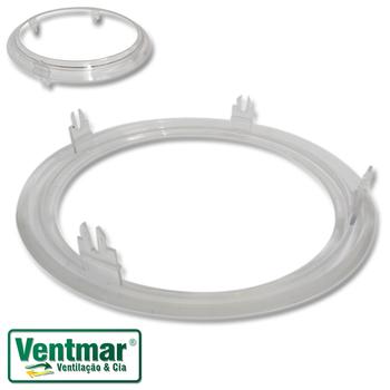 Anel Inferior Suporte da Luminária do Ventilador SPIRIT Cristal - Modelo 203 ou 303 - Fixa a Lente o