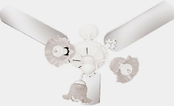 Ventilador de Teto Venti-Delta New Beta 127v Branco 3Pás 3Tulipas Flor Chave 3Velocidades