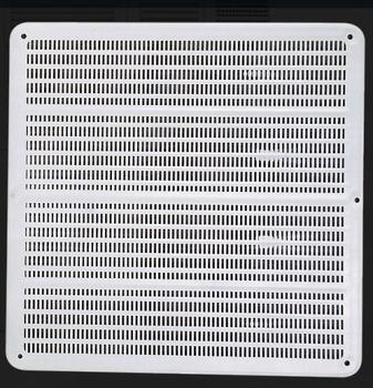 Grade Veneziana 25x25cm 250mm para Ventilação de Superfície - Medidas 250mm - Grelha Plastica Branca