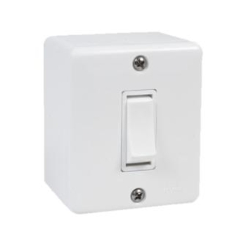 Interruptor Elétrico Sistema-X Branco - 1 Tecla com Caixa Sobrepor
