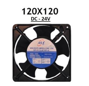 Exaustor Microventilador 12cm - 24v Cooler Asafan - DC - 24V 120X120X38 - 12038B-24 - EXA12 EXAASAFA