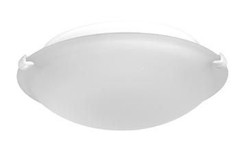 Luminária para Ventilador de Teto Venti-Delta Magnes - Ventisol Sunny - Volare Ventax - Base Suporte Branca c/Vidro Fosco 300mm