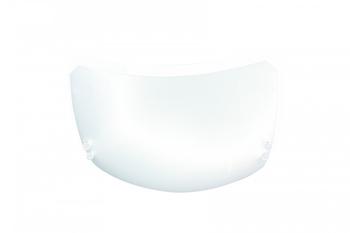 Luminária para Ventilador de Teto -  Modelo Chile Plafon Cromado Vidro Fosco Borda Cristal  - 2LUZ