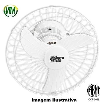 Ventilador de Teto Loren Sid Orbital 60cm Bivolts Branco - Rotação em 360° Grade Metal