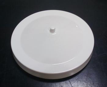 Luminária Cega para Ventilador de Teto - Plafon Pequim Metal Branco para Ventilador de Teto Cego/Sem Luminária