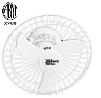 Ventilador de Teto Loren Sid Turbo Orbital 50cm M2 Bivolts Branco - Rotação em 360° Grade Metal - Ventilador Sem Luminária p/Área Gourmet