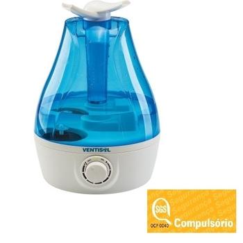 Umidificador de Ambientes 3,7 Litros Ultrassônico Bivolts - Ventisol Premium U-04 Nacional - Azul